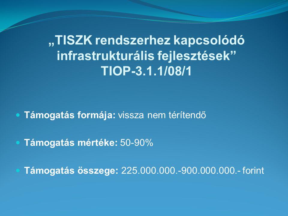 Nógrád megyei TISZK infrastrukturális fejlesztése TIOP-3.1.1/08/1-2008-0010 Pályázati dokumentáció beadása: 2008.