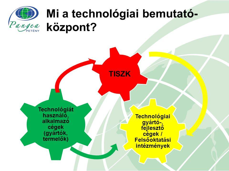 Mi a technológiai bemutató- központ? Technológiai gyártó-, fejlesztő cégek / Felsőoktatási intézmények Technológiát használó, alkalmazó cégek (gyártók