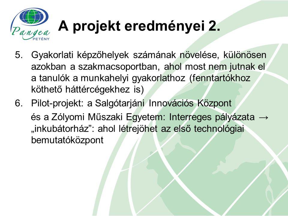 A TISZK közreműködése a projektben, feladatok 1.Vállalati kapcsolattartók kijelölése 2.A kapcsolattartók részvétele: a vállalati igényfelmérésben, az adatok elemzésében, a képzőhely-akkreditációs folyamatban 3.Adatszolgáltatás a vállalti kapcsolatokról 4.Továbbképzéseken való részvétel biztosítása