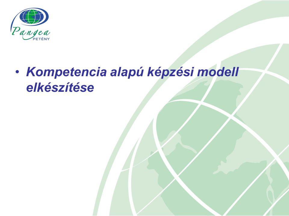 Kompetencia alapú képzési modell elkészítése