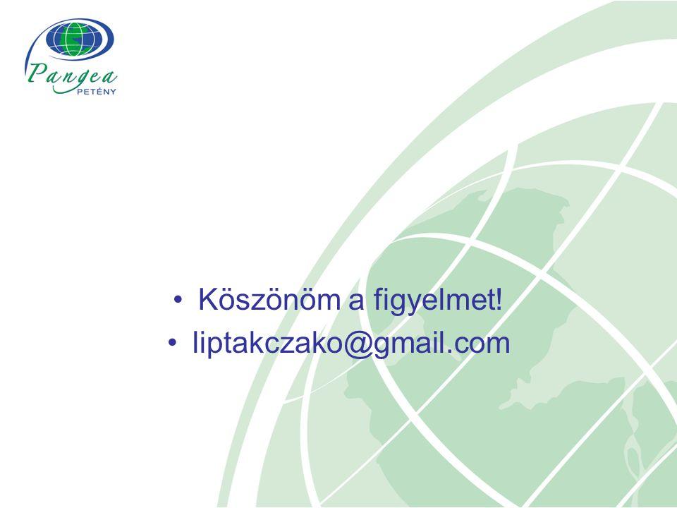Köszönöm a figyelmet! liptakczako@gmail.com