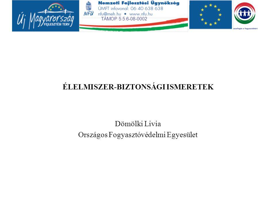 TÁMOP 5.5.6-08-0002 2 Európai Unió többször deklarált és következetesen alkalmazott élelmiszer szabályozási filozófiája: a fogyasztók megfelelő tájékoztatása, az élelmiszerek szabad áramlását az EU-n belül biztosítania, míg a nemzetközi (tehát az un.