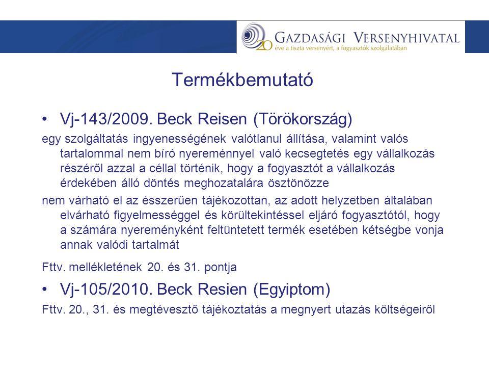 Termékbemutató Vj-143/2009.