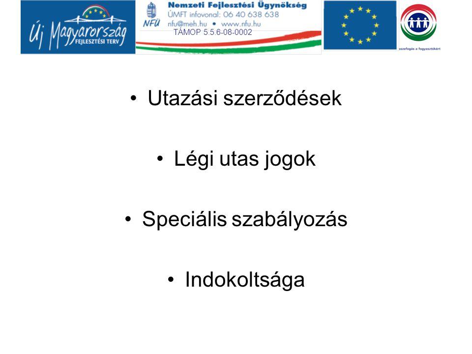 TÁMOP 5.5.6-08-0002 Utazási szerződések Joganyag Utazási irodák Magyar Kereskedelmi és Engedélyezési Hivatal feladata http://www.mkeh.gov.hu/hivatal/szervezeti abra/kereskedelmiigazgatosaghttp://www.mkeh.gov.hu/hivatal/szervezeti abra/kereskedelmiigazgatosag