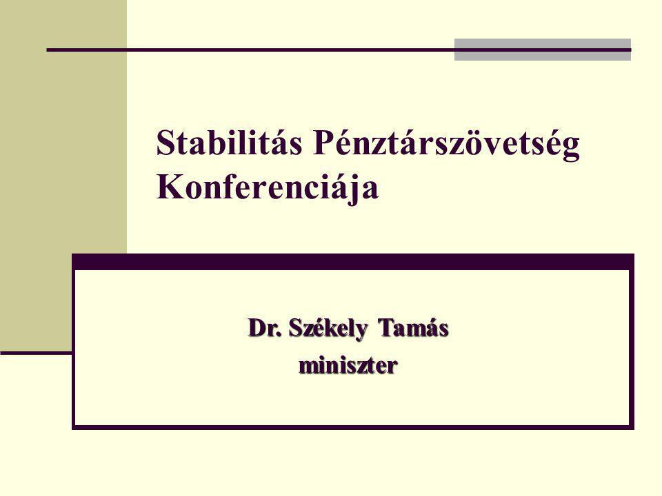 Stabilitás Pénztárszövetség Konferenciája Dr. Székely Tamás miniszter