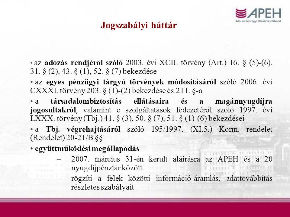 az adózás rendjéről szóló 2003. évi XCII. törvény (Art.) 16.
