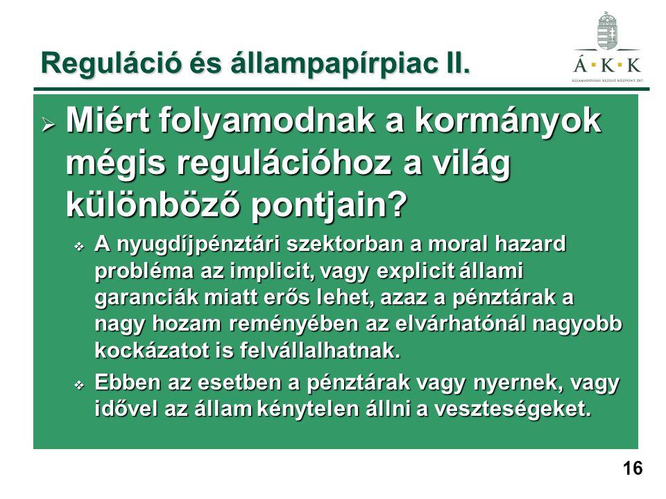 16 Reguláció és állampapírpiac II.