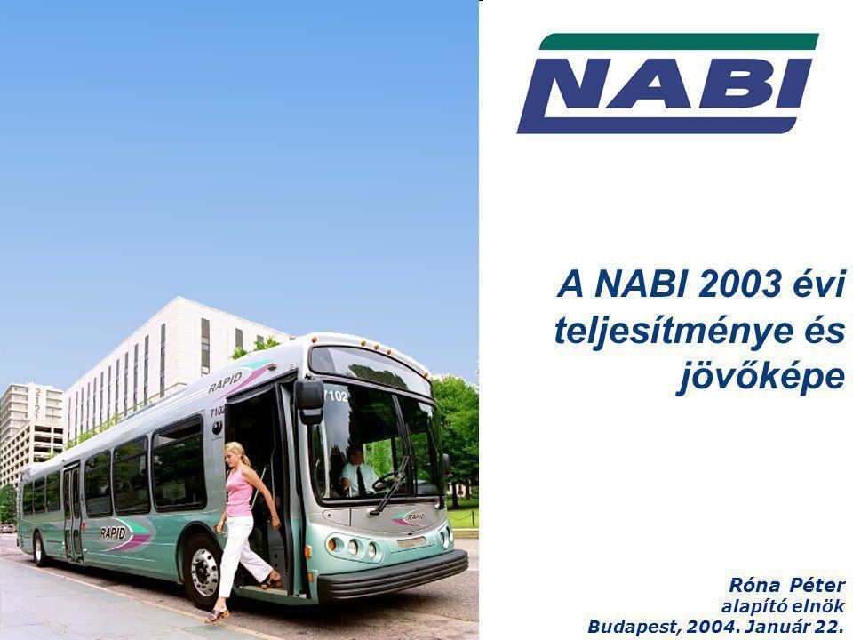 A NABI 2003 évi teljesítménye és jövőképe Róna Péter alapító elnök Budapest, 2004. Január 22.