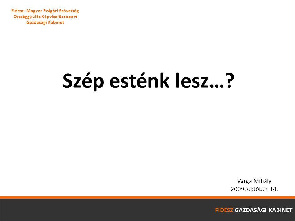 FIDESZ GAZDASÁGI KABINET A Magyar Nemzeti Bank számításai szerint a rejtett jövedelmek nagysága eléri az 1000 Mrd Ft-ot 04