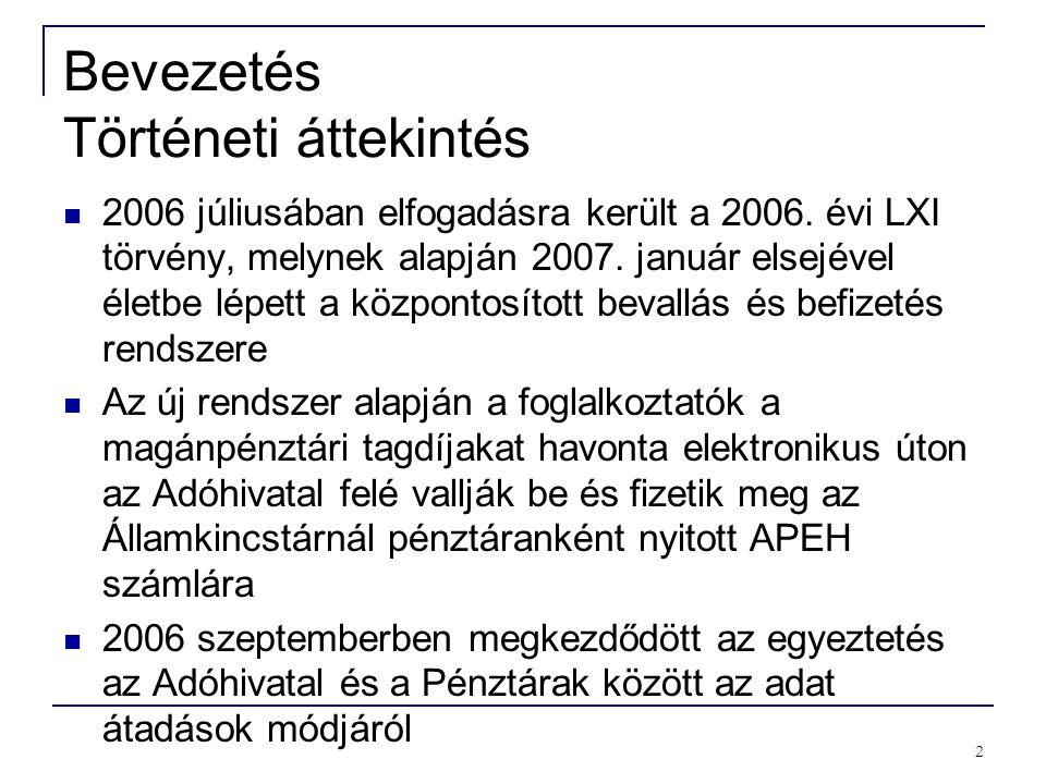 2 Bevezetés Történeti áttekintés 2006 júliusában elfogadásra került a 2006.