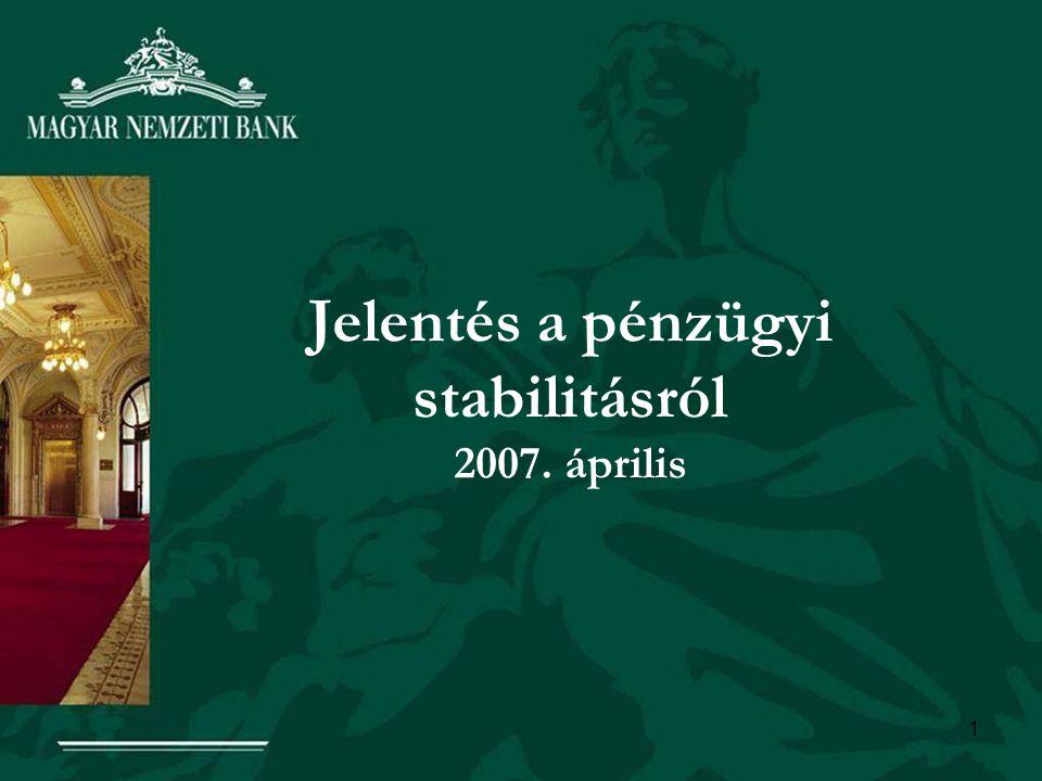 1 Jelentés a pénzügyi stabilitásról 2007. április
