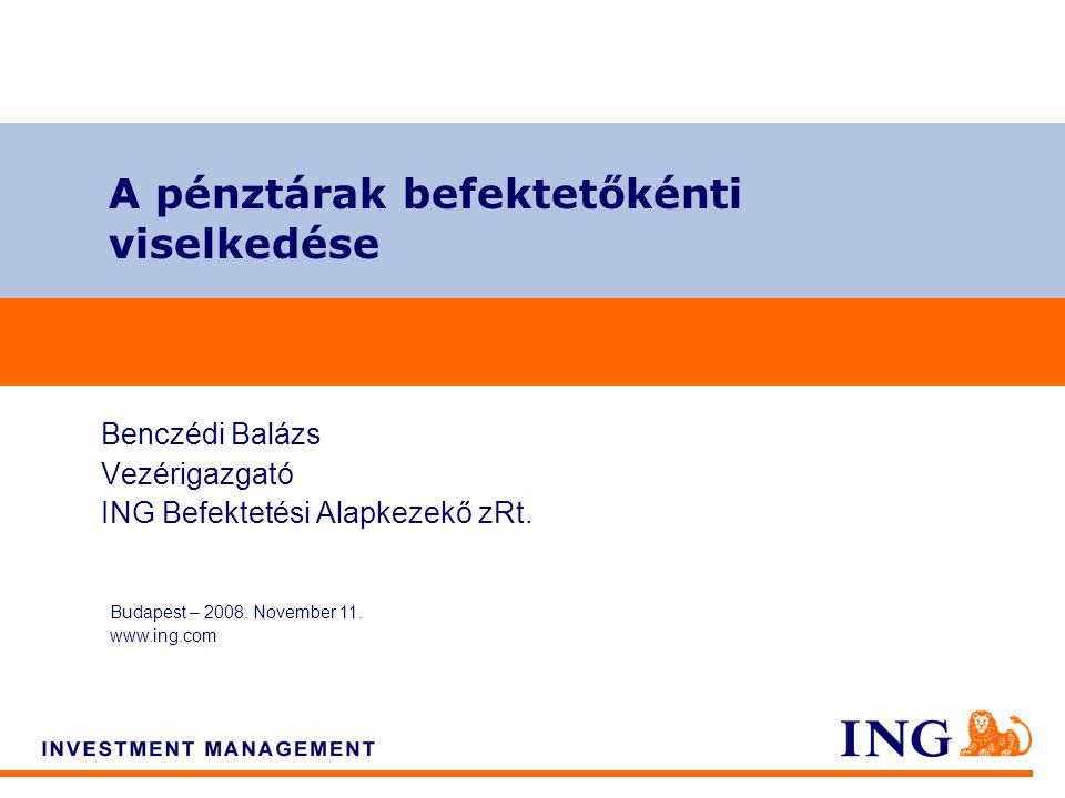 Do not put content on the brand signature area A pénztárak befektetőkénti viselkedése Budapest – 2008.