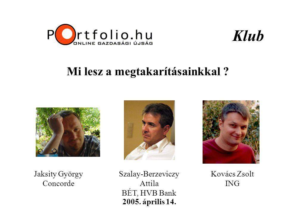 Klub Mi lesz a megtakarításainkkal . 2005. április 14.