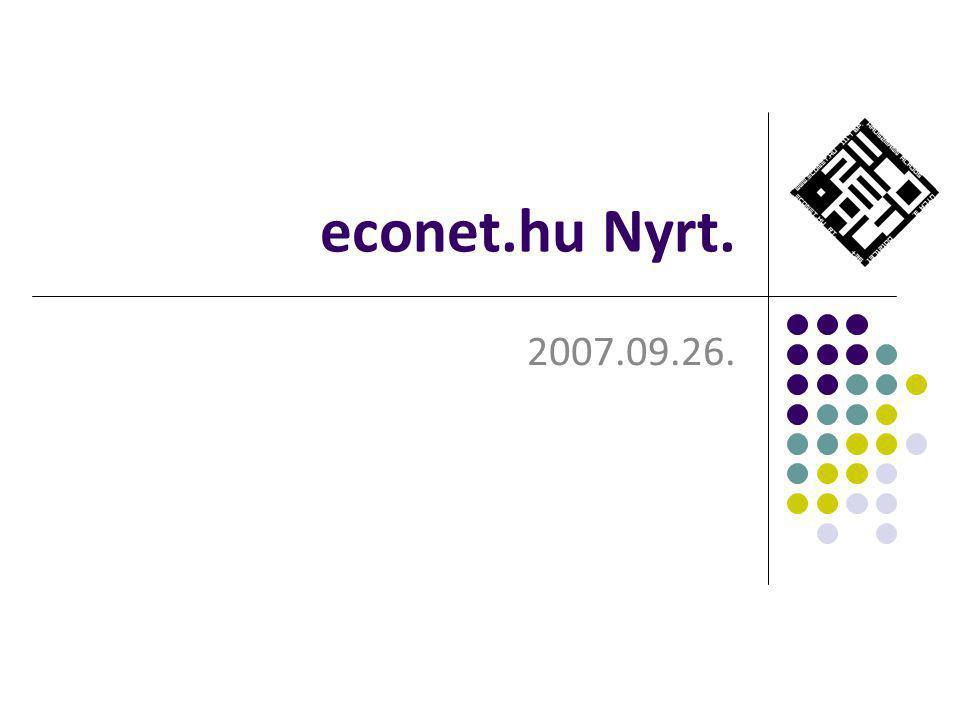 econet.hu Nyrt. 2007.09.26.