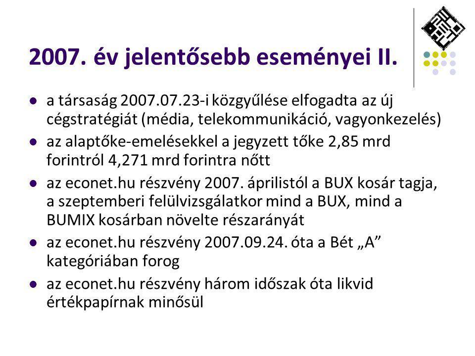 2007. év jelentősebb eseményei II.
