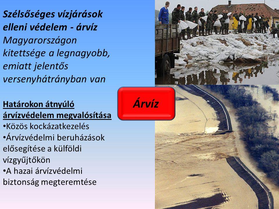 Szélsőséges vízjárások elleni védelem - árvíz Magyarországon kitettsége a legnagyobb, emiatt jelentős versenyhátrányban van Határokon átnyúló árvízvéd