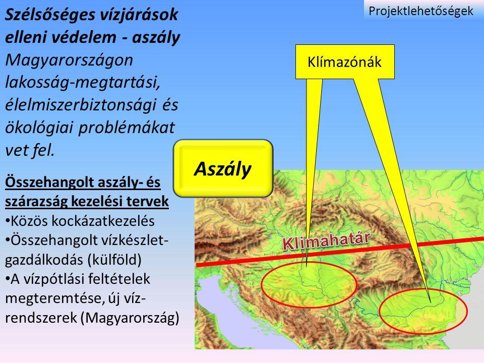 Szélsőséges vízjárások elleni védelem - aszály Magyarországon lakosság-megtartási, élelmiszerbiztonsági és ökológiai problémákat vet fel. Összehangolt