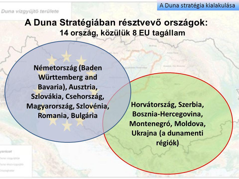 Horvátország, Szerbia, Bosznia-Hercegovina, Montenegró, Moldova, Ukrajna (a dunamenti régiók) A Duna Stratégiában résztvevő országok: 14 ország, közül