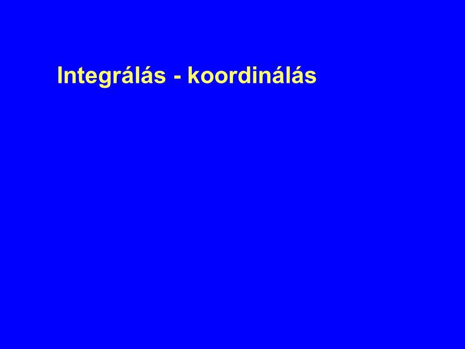 Integrálás - koordinálás