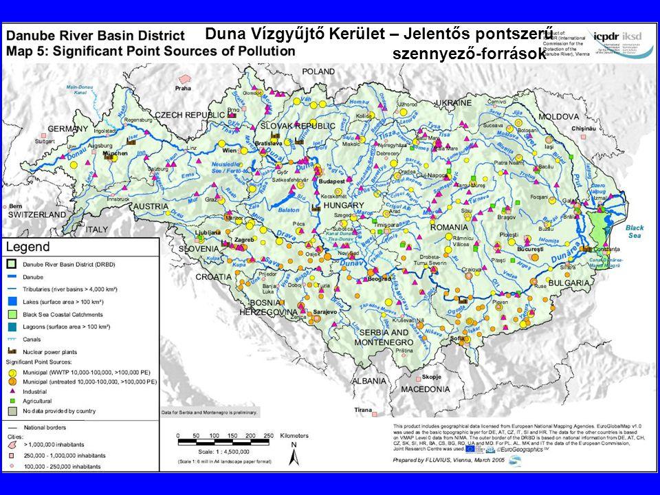 Duna Vízgyűjtő Kerület – Jelentős pontszerű szennyező-források