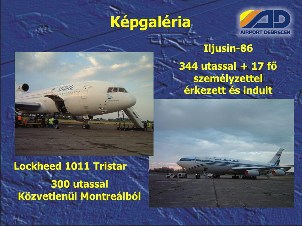 Iljusin-86 344 utassal + 17 fő személyzettel érkezett és indult Képgaléria Lockheed 1011 Tristar 300 utassal Közvetlenül Montreálból