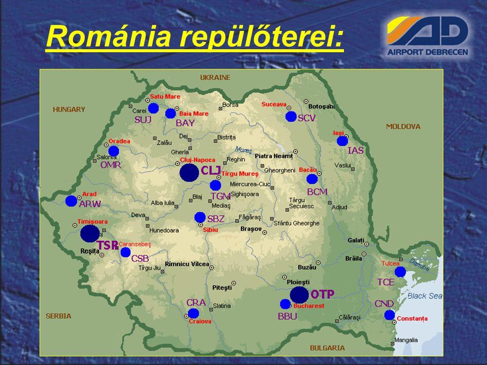 Románia repülőterei: