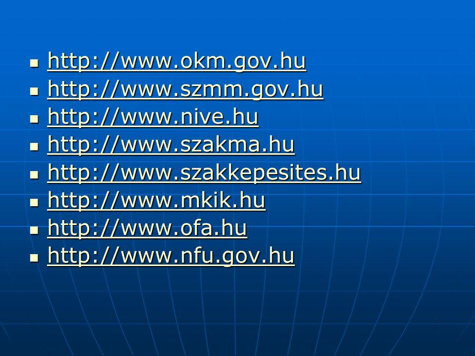 http://www.okm.gov.hu http://www.okm.gov.hu http://www.okm.gov.hu http://www.szmm.gov.hu http://www.szmm.gov.hu http://www.szmm.gov.hu http://www.nive