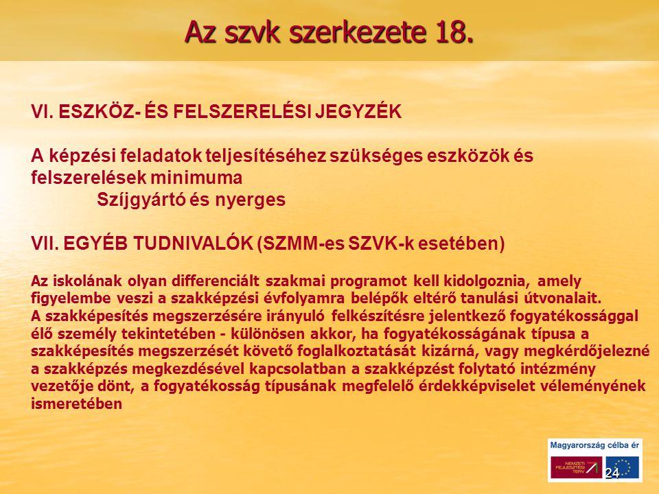 24 Az szvk szerkezete 18. VI.