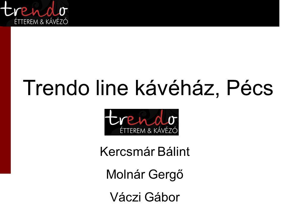 Trendo line kávéház, Pécs Kercsmár Bálint Molnár Gergő Váczi Gábor