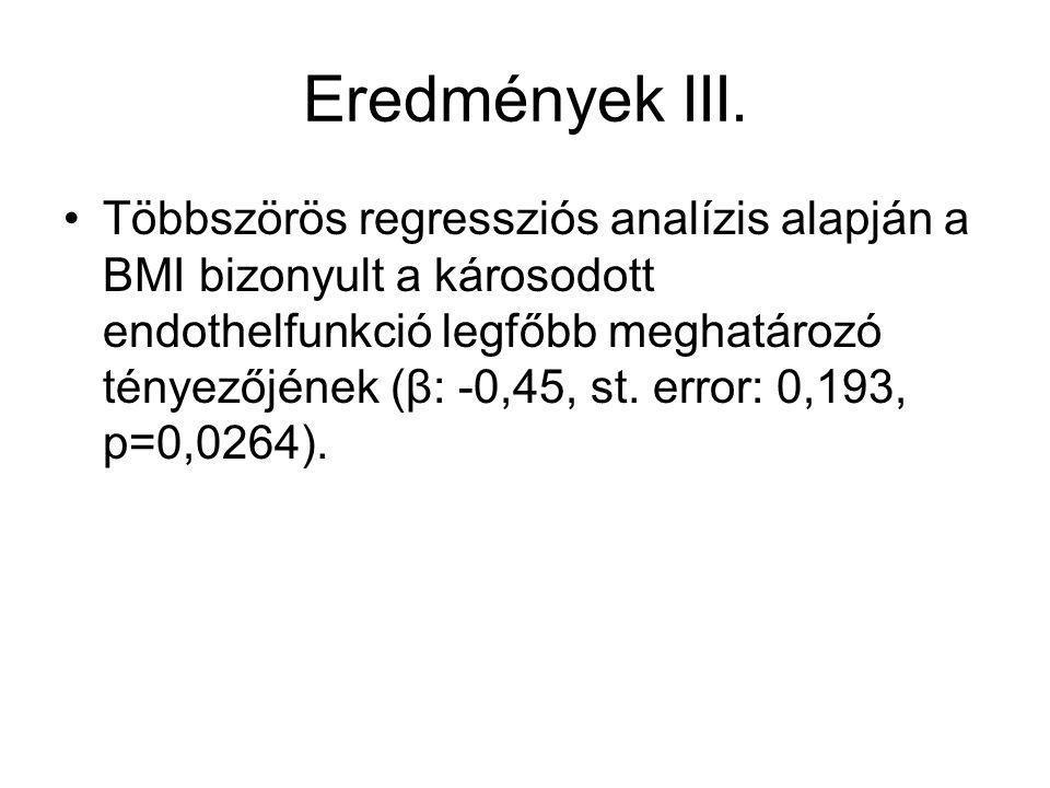 Eredmények III.