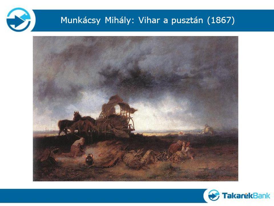 Munkácsy Mihály: Vihar a pusztán (1867)