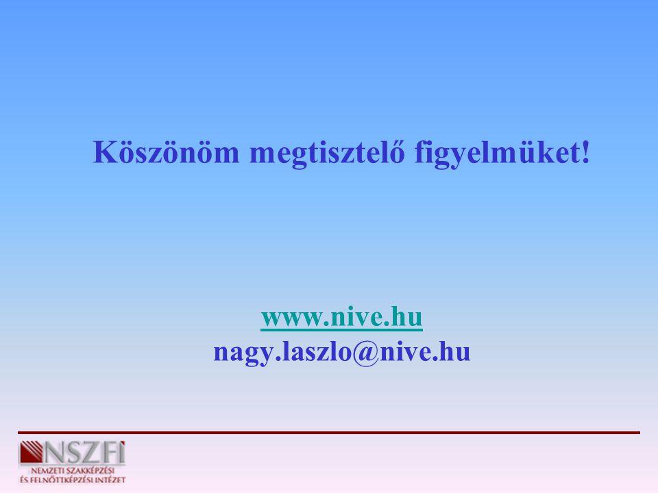 Köszönöm megtisztelő figyelmüket! www.nive.hu nagy.laszlo@nive.hu www.nive.hu