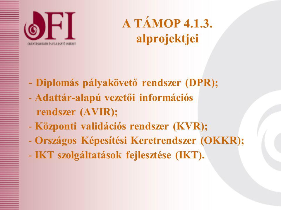 A TÁMOP 4.1.3.
