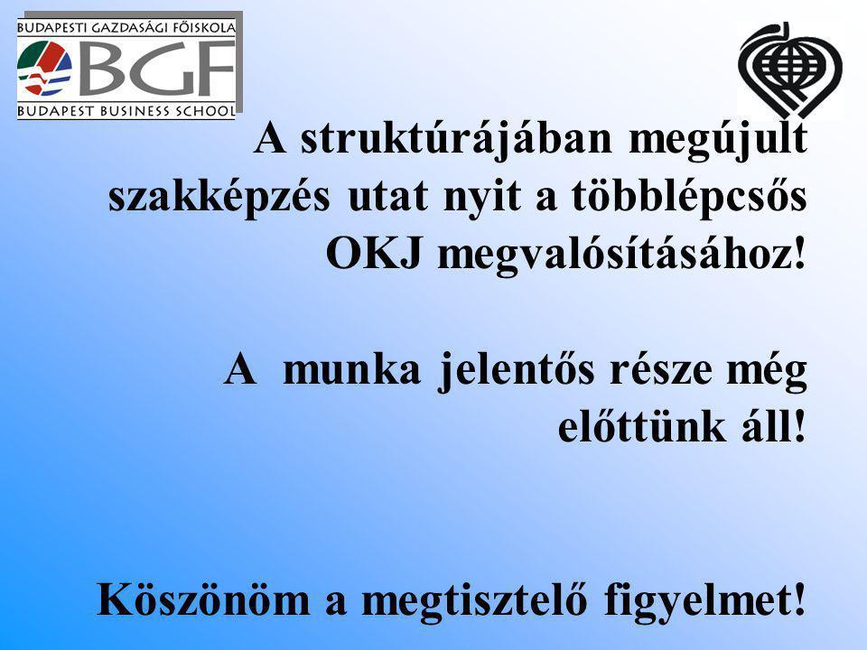 A struktúrájában megújult szakképzés utat nyit a többlépcsős OKJ megvalósításához.