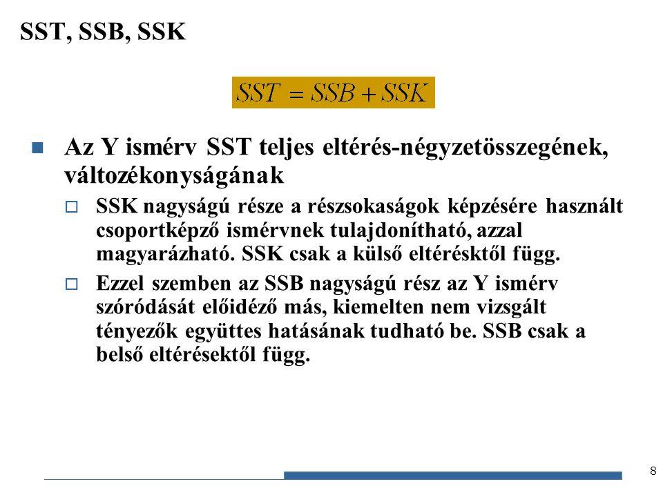 Gazdaságstatisztika, 2012 9 Fősokaság 1.részsokaság 2.