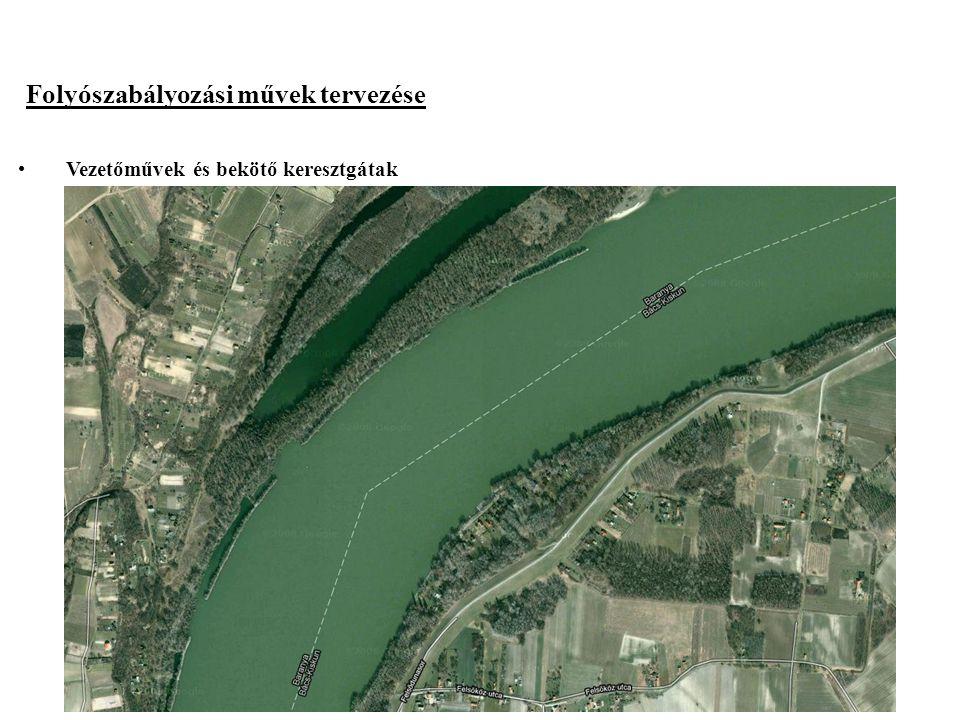 2014. 09. 13.16 Folyószabályozási művek tervezése Vezetőművek és bekötő keresztgátak Ha a szabályozási vonal a mederbe kerül Anyaga terméskő vagy beto