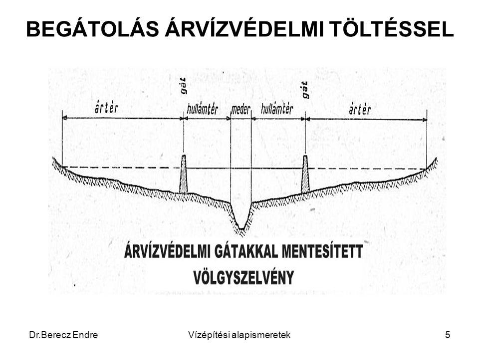 Dr.Berecz EndreVízépítési alapismeretek5 BEGÁTOLÁS ÁRVÍZVÉDELMI TÖLTÉSSEL