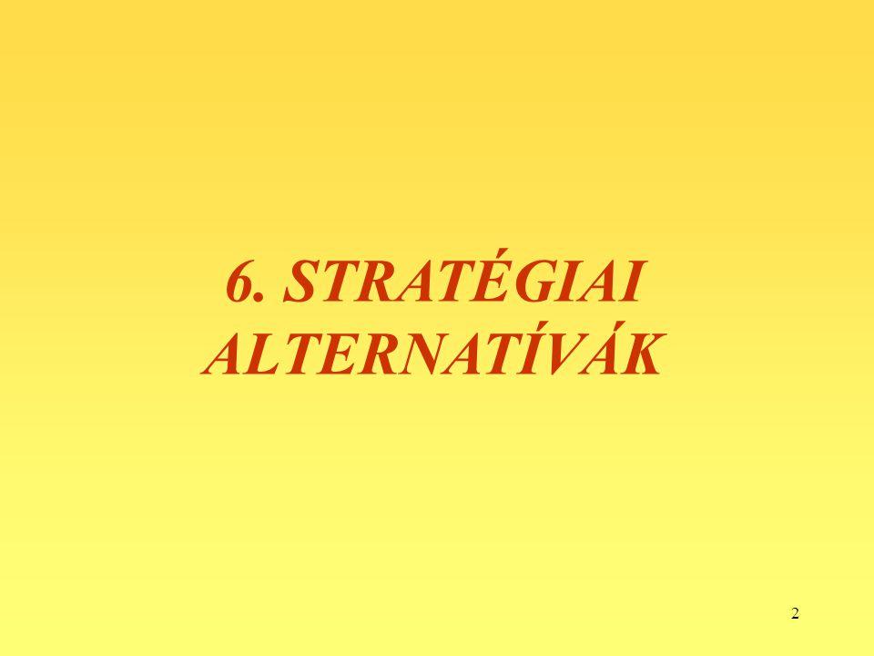 2 6. STRATÉGIAI ALTERNATÍVÁK