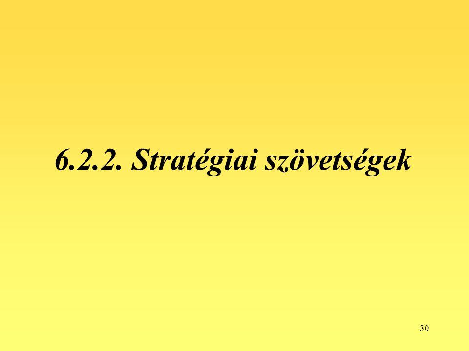 30 6.2.2. Stratégiai szövetségek