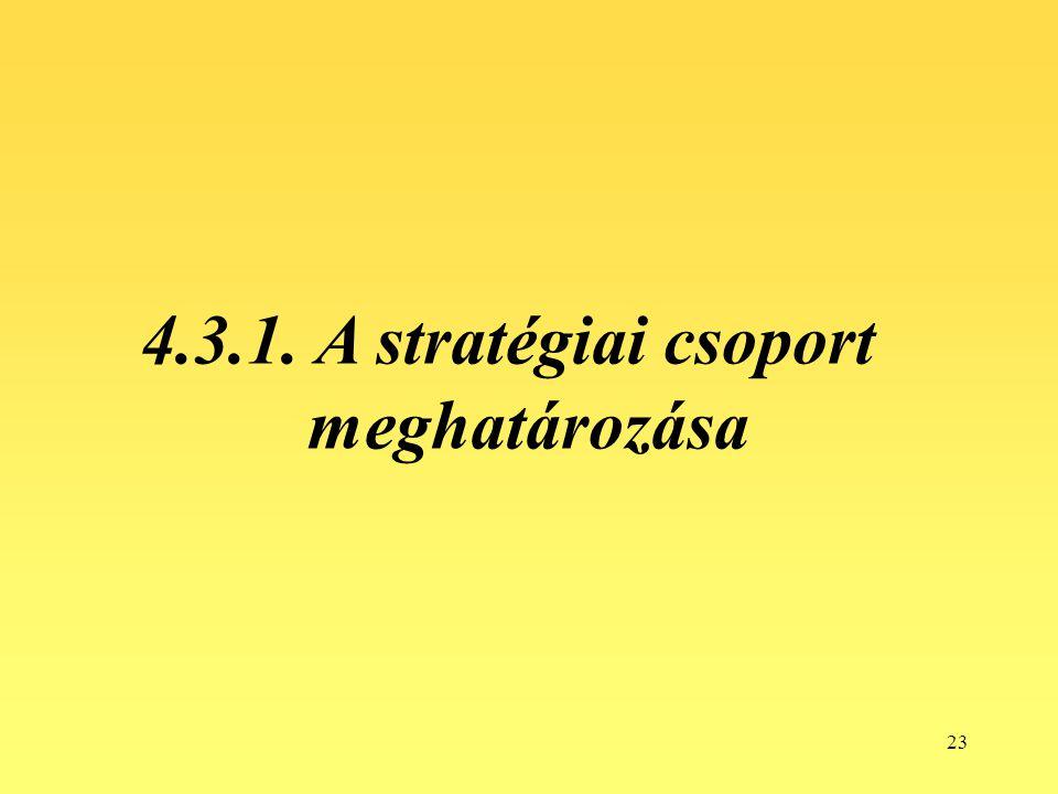 23 4.3.1. A stratégiai csoport meghatározása