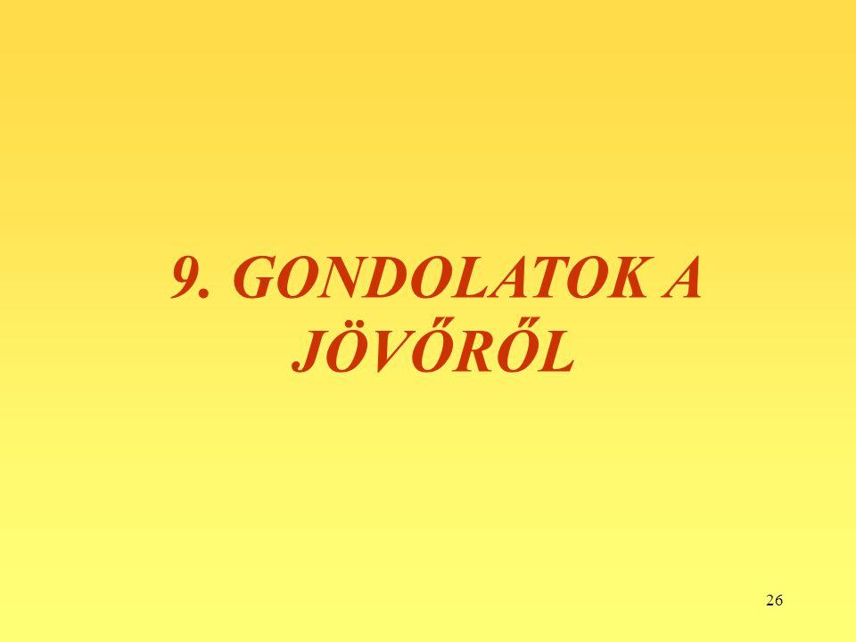 26 9. GONDOLATOK A JÖVŐRŐL