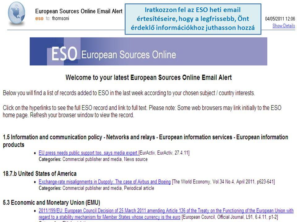 Iratkozzon fel az ESO heti email értesítéseire, hogy a legfrissebb, Önt érdeklő információkhoz juthasson hozzá