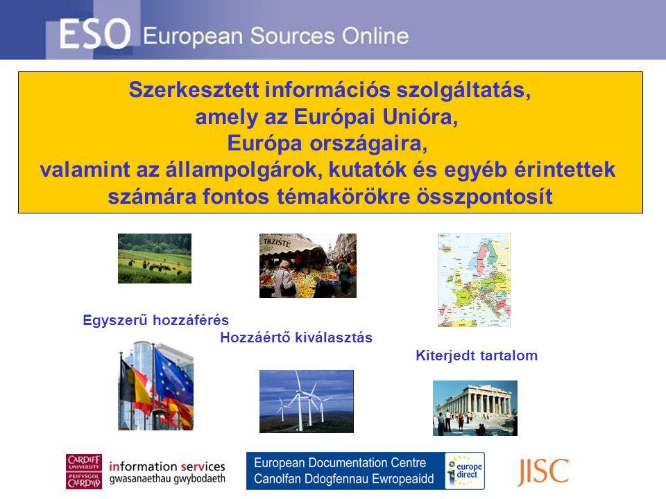 Az ESO-n szintén megtalálható 50 európai ország információs útmutatója