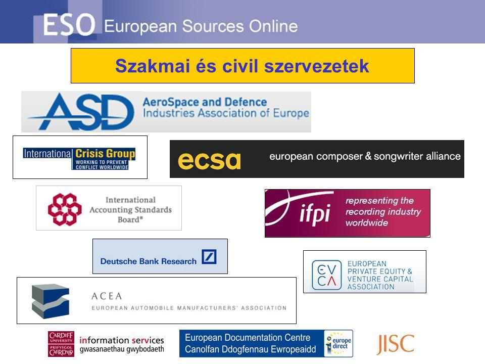 Szakmai és civil szervezetek