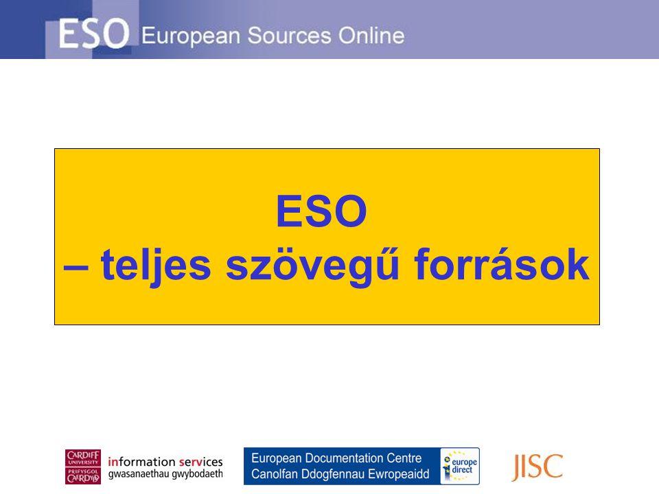 ESO – teljes szövegű források