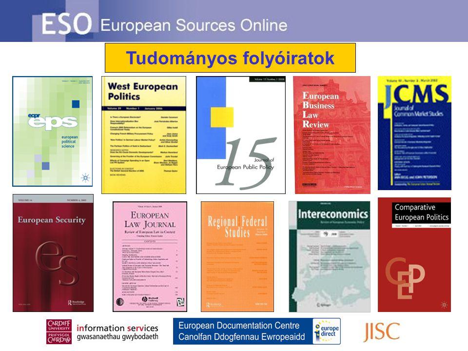 Hozzáértő kiválasztás… Az ESO-n fellelhető tartalmat az indexálás és a szolgáltatás által lefedett témák szakértői választják ki, Ian Thomson, vezető szerkesztő irányítása alatt A források kiválasztásának legfőbb szempontja, hogy releváns legyen állampolgárok, diákok, kutatók és szakmabeliek számára egyaránt, országtól függetlenül