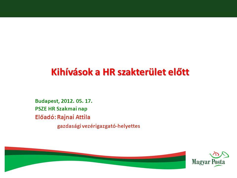 Kihívások a HR szakterület előtt Budapest, 2012. 05.
