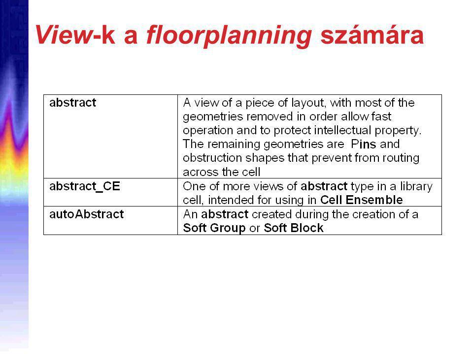 View-k a floorplanning számára