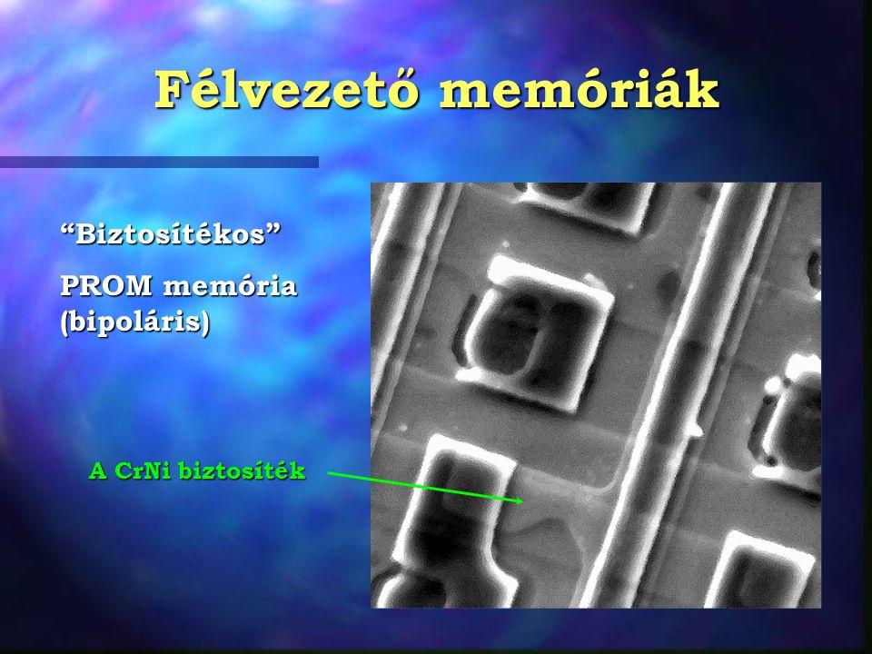 """Félvezető memóriák """"Biztosítékos"""" PROM memória (bipoláris) A CrNi biztosíték"""
