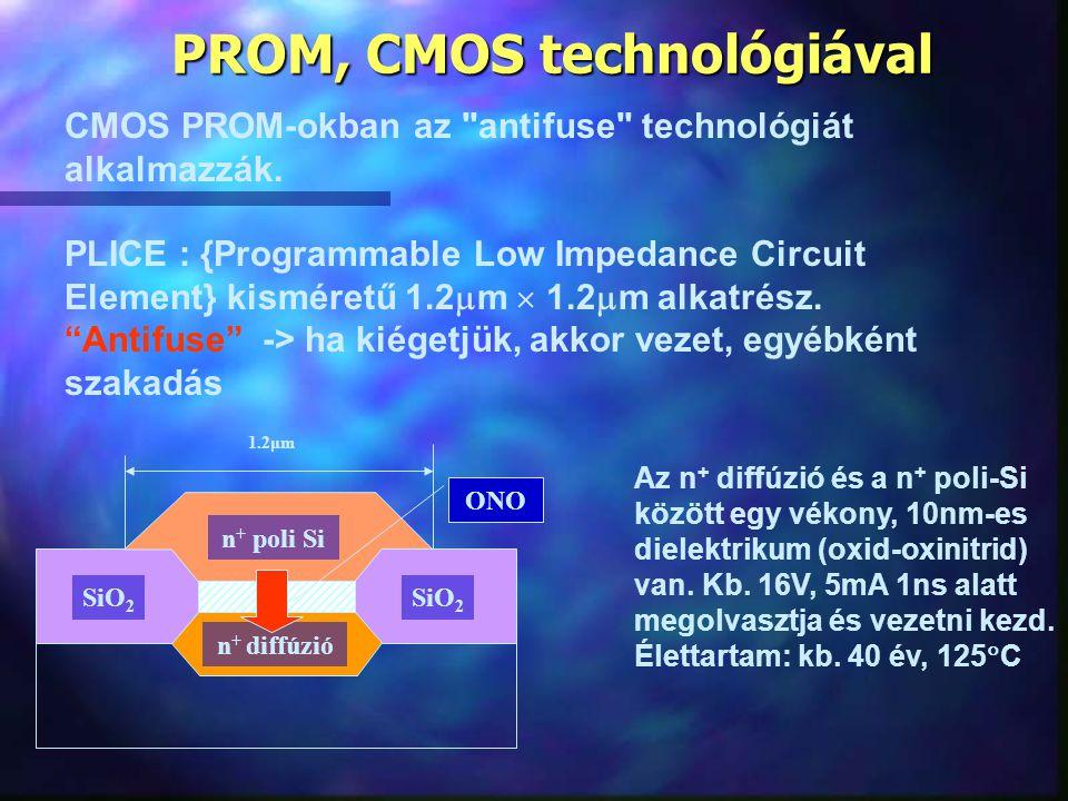 PROM, CMOS technológiával CMOS PROM-okban az